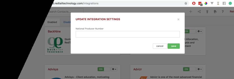 Redtail Add NPN Screen